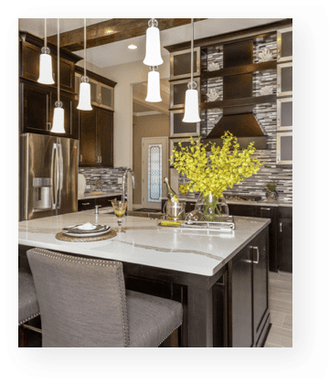 westbay story | model home kitchen
